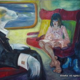 Dans le train © Valka